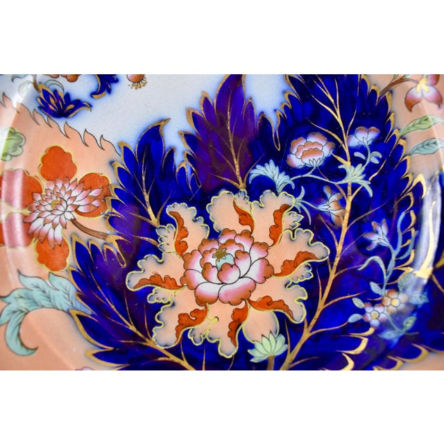 Staffordshire Mid 19th C. John Ridgway English Chinoiserie Style Imari Floral Plates, S/8 For Sale - Image 4 of 13