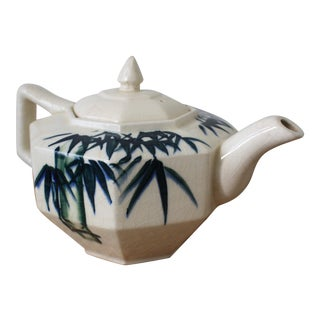 Chinoiserie Porcelain Teapot For Sale