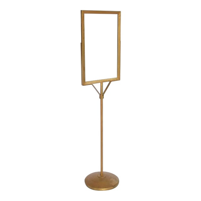 1930's Vintage Department Store Free Standing Metal Sign Stand For Sale