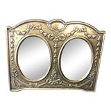Image of Vintage Jr 925 Sterling Silver Double Picture Frame For Sale
