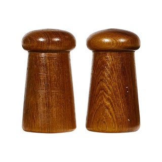 1960s Teak Salt & Pepper Shakers, Pair For Sale