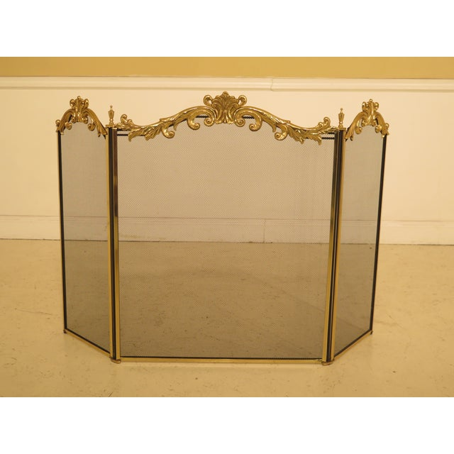 French Louis XV Style Brass Folding Firescreen For Sale - Image 10 of 10
