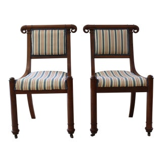 American Empire Side Chairs - a Pair For Sale