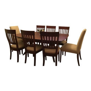 Saloom Extension Table With 8 Chairs For Sale