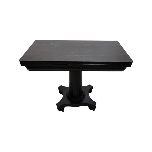 Antique Ebonized Empire Game Table and Console For Sale