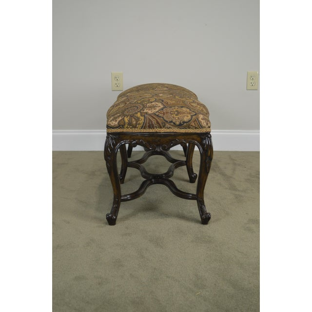 French Louis XV Style Carved Walnut Window Bench For Sale In Philadelphia - Image 6 of 12