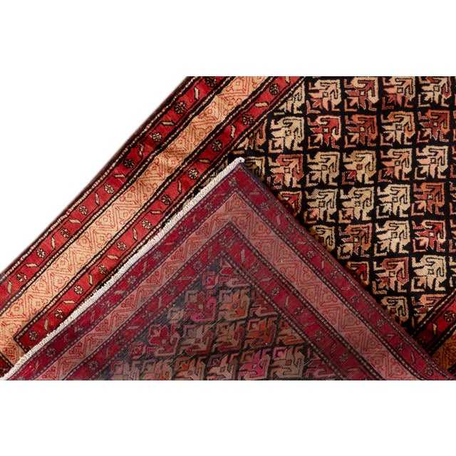 Vintage hand-knotted North West Persian rug with a traditional design. This piece has great detailing and would be the...