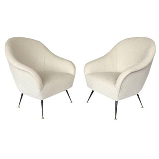 Pair of Antonio Gorgone Italian Lounge Chairs