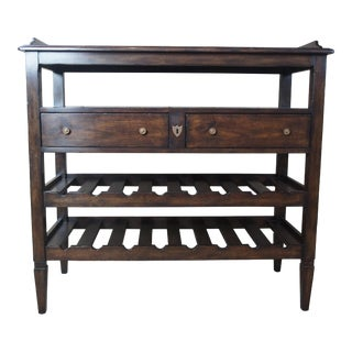 Henredon Acquisitions Mahogany Server & Wine Rack Dry Bar For Sale
