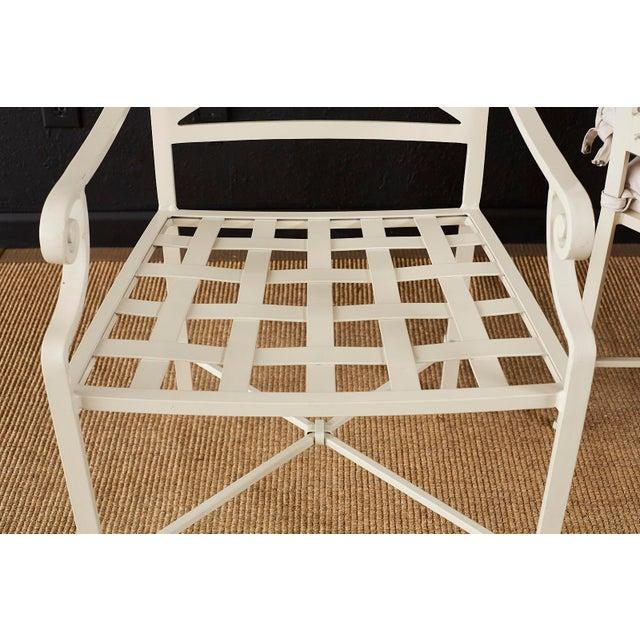 Set of Six Brown Jordan Aluminium Patio Garden Chairs For Sale - Image 10 of 13