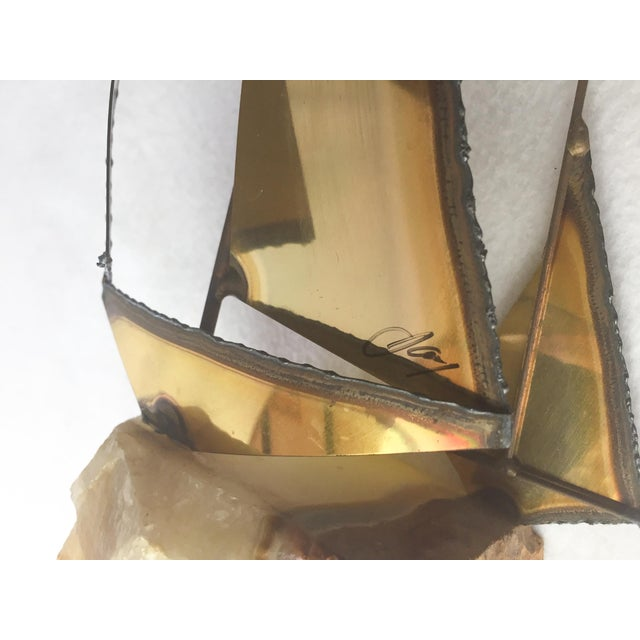 1970s Mario Jason Originals Brass Sailboat For Sale - Image 6 of 8