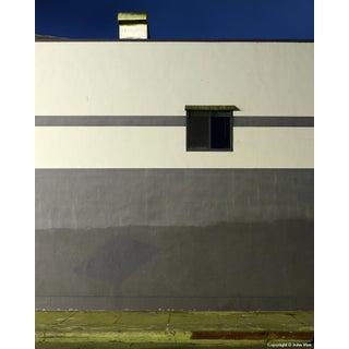 Gray Wall - Night Photograph by John Vias