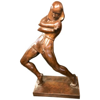 Jan Anteunis Art Deco Female Statue Belgian Sculptor For Sale