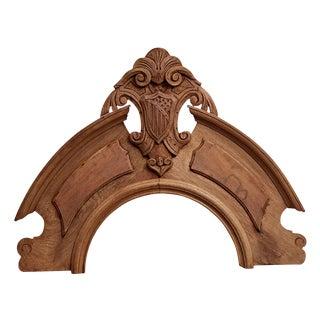 Carved Walnut Pediment W/ Shield Motif Circa 1850s