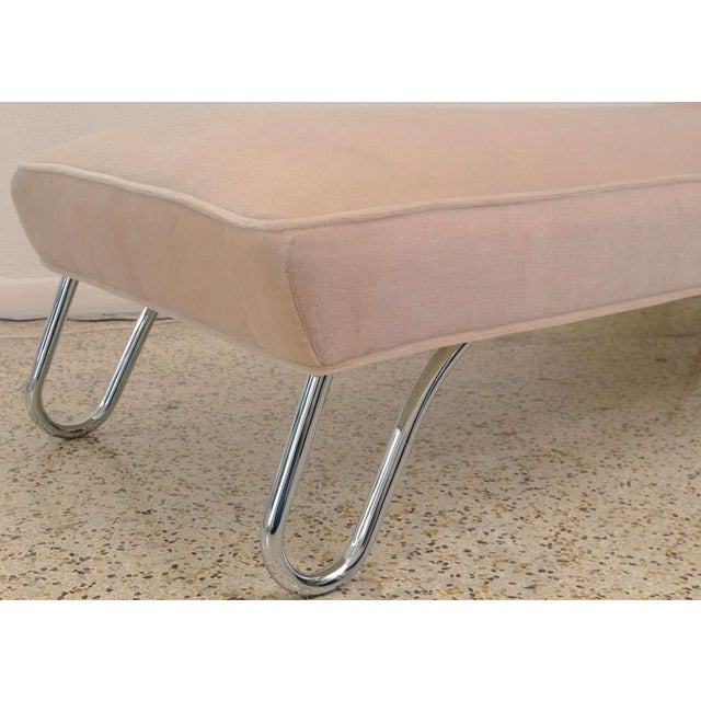 1920s KEM Weber Chrome & Mohair Chaise/Daybed - Image 8 of 9