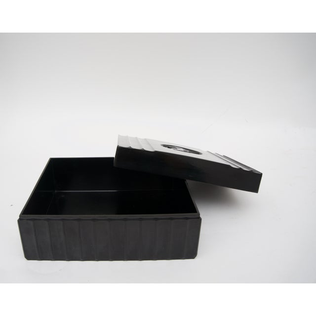 1920s Dunhill American Art Deco Black Bakelite Storage Box with Pegasus Motif For Sale In West Palm - Image 6 of 9