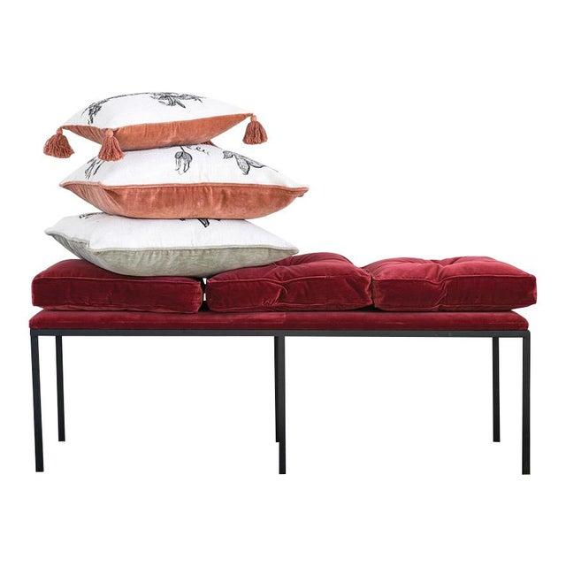 Art Deco Art Deco Velvet Bench For Sale - Image 3 of 4