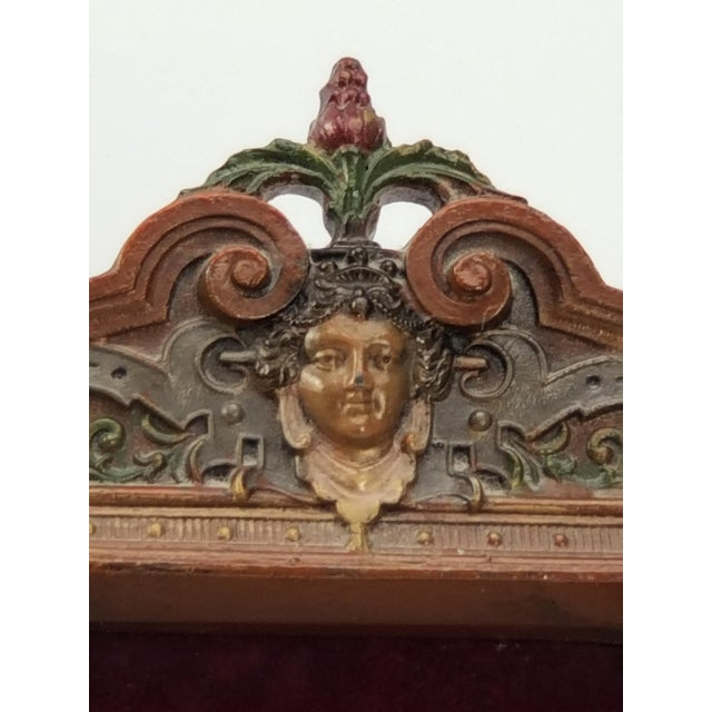 Victorian Antique Cast Iron Photo Frame - Italianate Renaissance/Victorian/Style For Sale - Image 3 of 10