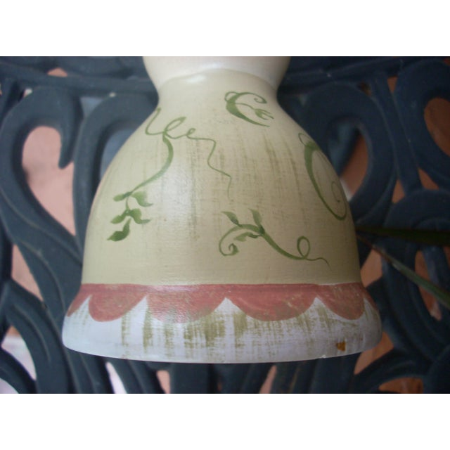 Stonehouse Farm Goods Hand Painted Candlesticks - a Pair For Sale - Image 5 of 7