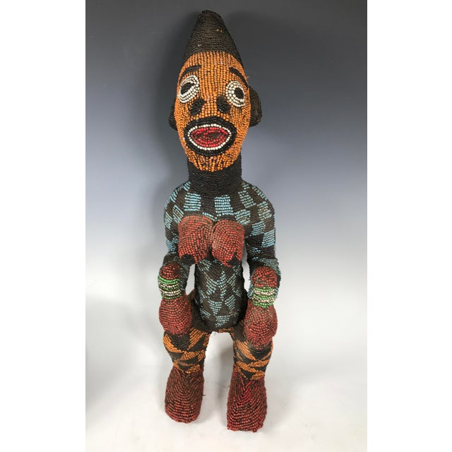 African Tribal Bamileke Beaded Statue - Image 4 of 6