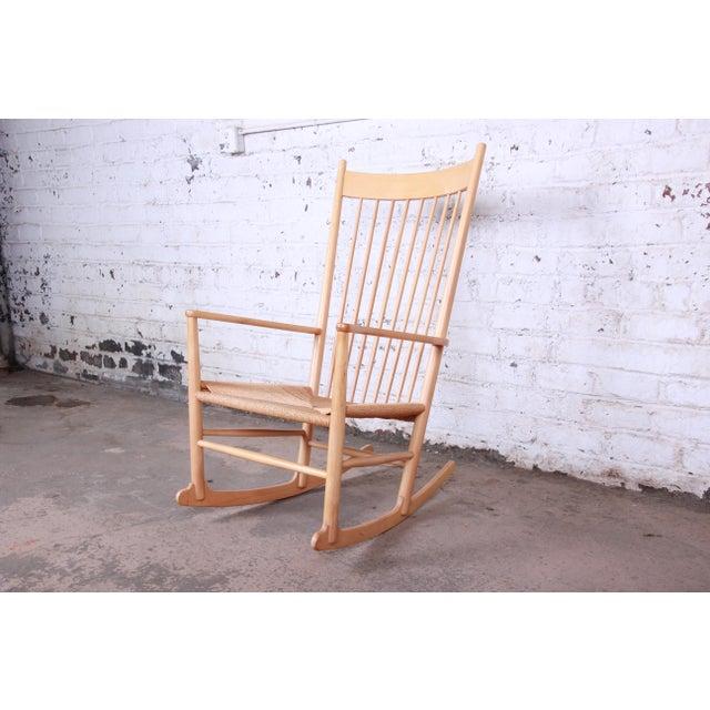 Tan Hans J. Wegner J16 Danish Rocking Chair For Sale - Image 8 of 8