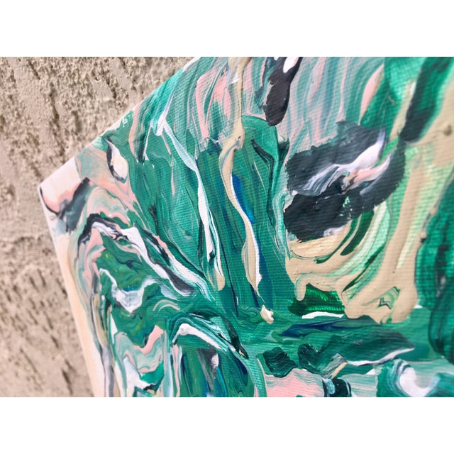 """Marbled Thoughts"" Original Abstract Painting - Image 4 of 5"