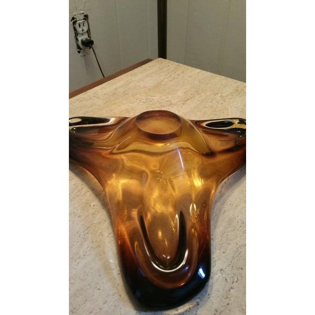 "Vintage Murano Seguso Art Glass, ""Boomerang Bowl"" - Image 4 of 7"