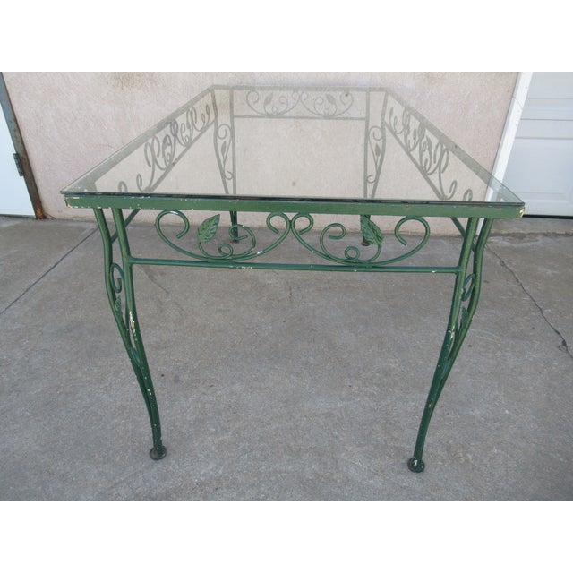 Glass Vintage Salterini Patio Dining Table For Sale - Image 7 of 13