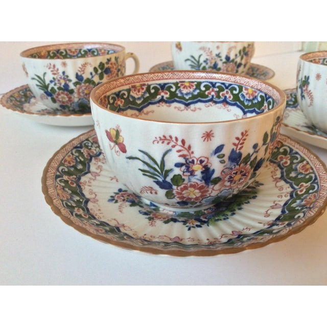 """Booths """"Old Dutch"""" Cup & Saucers - Set of 4 - Image 4 of 11"""