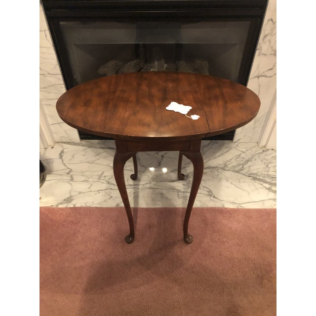 Traditional Small Mahogany Baker Drop Leaf Table For Sale In Atlanta - Image 6 of 6