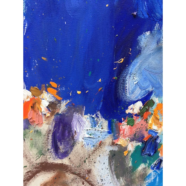 Abstract Abstract Oil Painting by Sean Kratzert 'Gibraltar' For Sale - Image 3 of 7
