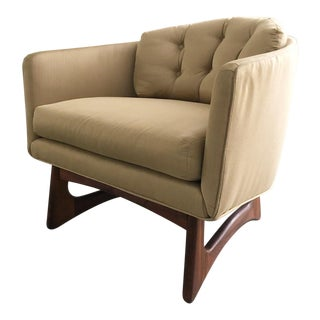 Adrian Pearsall Designed Barrel Back Lounge Chair For Sale