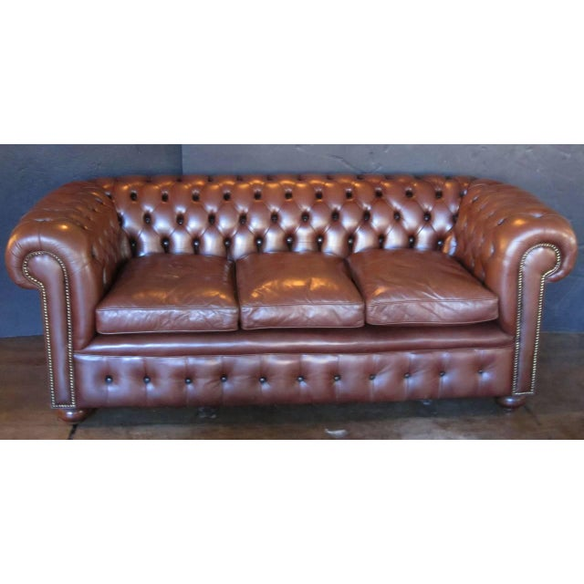 English Chesterfield Sofa For Sale - Image 4 of 11