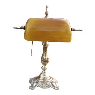 Vintage Brass Bankers Lamp