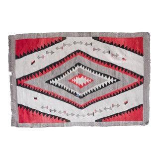 Vintage Navajo Blanket / Rug - 2′8″ × 4′2″