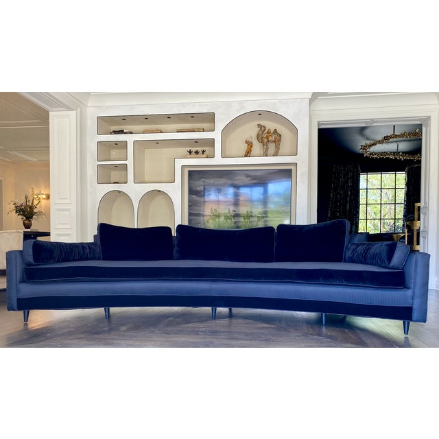 Mid-Century Modern 1960s Harvey Probber Crescent Curved Sofa For Sale - Image 3 of 6