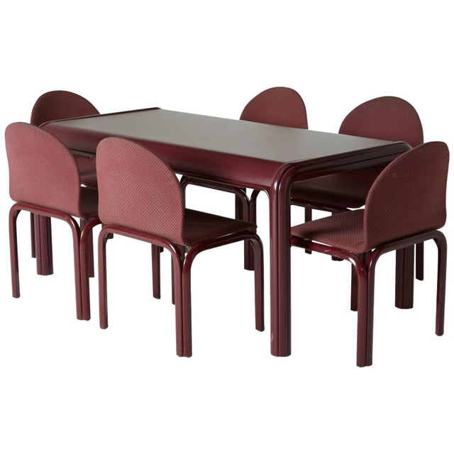 Gae Aulenti Knoll Model No. 54a Dining Set For Sale