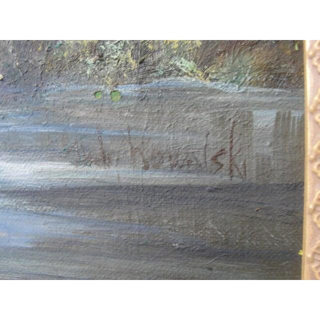 Vintage Impressionist Oil on Board Landscape Painting - Image 6 of 9