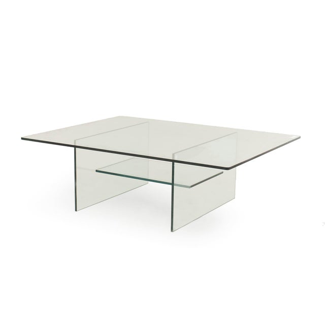 Mid-Century Modern American Midcentury Glass Coffee Table For Sale - Image 3 of 3