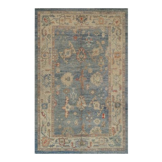 Vintage Mansour Turkish Oushak Wool Rug For Sale