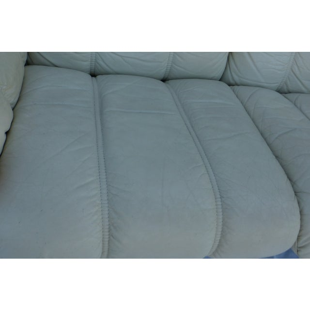 Ekornes Modern Teak & Leather Sofa For Sale - Image 4 of 11