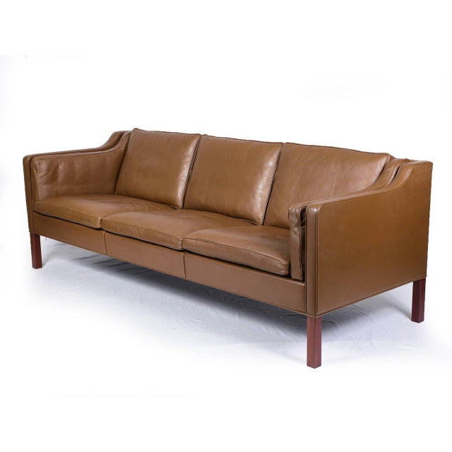 Borge Mogensen model #2213 three-seat leather sofa designed in 1962 and produced by Fredericia. Store formerly known as...