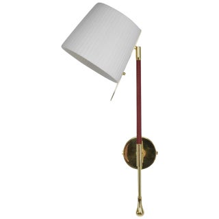 Ancora-II Contemporary Articulating Brass Wall Light, Flow Collection For Sale