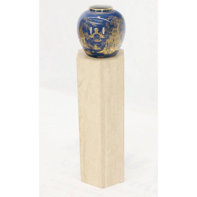 Mid-Century Modern Travertine Marble Tall Tower Shape Table Pedestal For Sale - Image 4 of 13