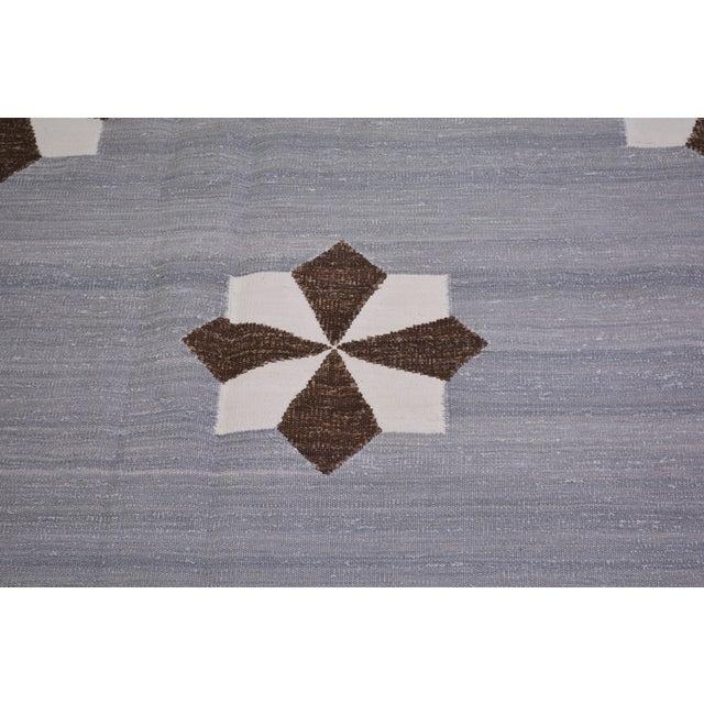 "Vintage Modern Hand Made Organic Cotton Natural Color Modern Kilim,8'x10'2"" For Sale - Image 4 of 6"