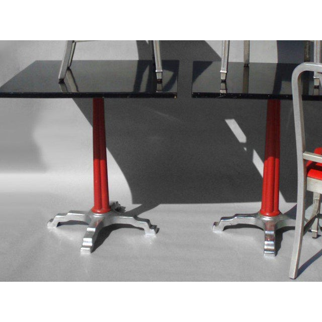 Alcoa Aluminum Speak Easy Art Deco Cabaret Cafe Tables With Alcoa Aluminum Chairs Set - 3 Pc. For Sale - Image 4 of 7