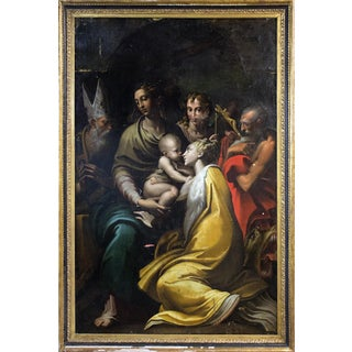 Full Scale 19th-20th Century Copy of Parmigianino Altarpiece