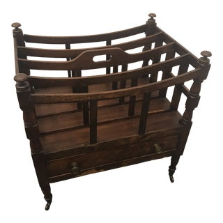 19th Century Americana Mahogany Magazine Rack For Sale