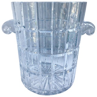 French Cut Crystal Champagne Bucket With Handles For Sale