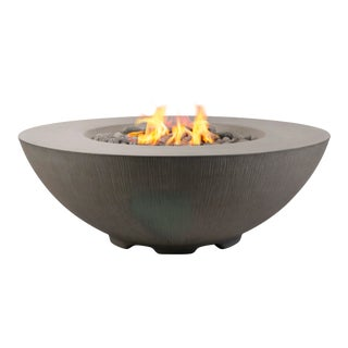 PyroMania Shangri-La Fire Pit Table - Slate Color, Natural Gas For Sale